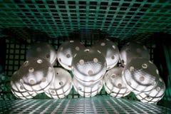球金属篮子的floorball 库存照片