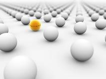 球金黄包围的白色 图库摄影