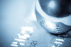 球镀铬物概念财务宏指令 免版税库存照片