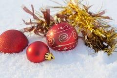 球雪圣诞节装饰 库存图片