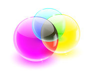 球颜色玻璃混合 皇族释放例证