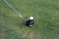 球驱动器高尔夫球 免版税库存照片