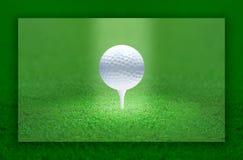 球高尔夫球光 免版税库存图片