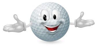 球高尔夫球吉祥人 免版税库存图片