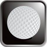 球高尔夫球图标 免版税库存图片