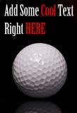 球高尔夫球宏指令 库存图片