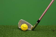 球高尔夫球愉快的铁 库存照片