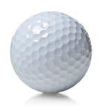 球高尔夫球查出的白色 库存图片