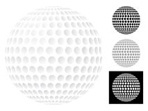 球高尔夫球查出的白色 向量例证