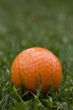 球高尔夫球桔子 免版税库存图片