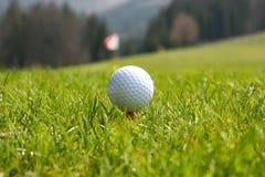 球高尔夫球起始时间 免版税库存照片