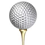 球高尔夫球金属 免版税库存图片