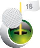 球高尔夫球swoosh 免版税库存照片