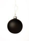 球黑色圣诞节 免版税库存照片