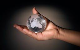 球水晶地球 图库摄影