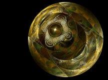 球chrystal玻璃纹理 库存例证