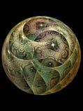 球chrystal玻璃纹理 免版税图库摄影