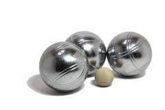 球cochonnet插孔petanque 免版税库存图片