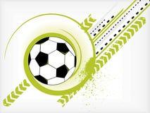球grunge足球 图库摄影