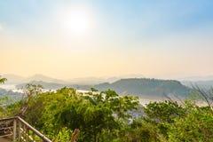 琅勃拉邦市,老挝顶视图  免版税库存照片