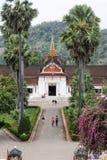 琅勃拉邦的王宫老挝的 库存图片