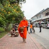 琅勃拉邦,老挝- 10月27 图库摄影