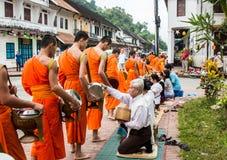 琅勃拉邦,老挝- 10月27 库存图片