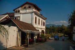 琅勃拉邦` s老镇,老挝 库存图片