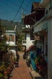 琅勃拉邦` s老镇,老挝 免版税库存照片
