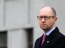 总理乌克兰Arseniy Yatsenyuk 免版税库存照片