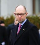 总理乌克兰Arseniy Yatsenyuk 库存照片