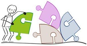 整理五颜六色的项目 免版税库存图片