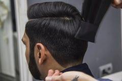 理发师切口头发 库存图片