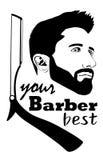 理发师商标您的最佳的理发师 皇族释放例证