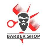 理发店商标,理发店象,简单的象 图库摄影