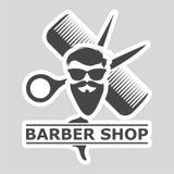 理发店商标,理发店象,简单的象 免版税库存照片