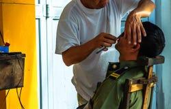 理发店在河内-越南 免版税库存照片