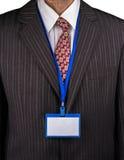 经理和徽章 免版税库存照片