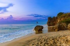 理想国海滩在巴厘岛印度尼西亚 免版税库存图片