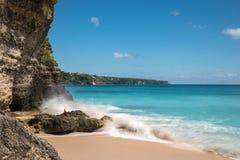 理想国海滩在巴厘岛 库存图片