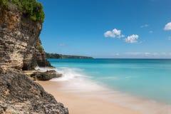 理想国海滩在巴厘岛 图库摄影