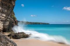 理想国海滩在巴厘岛 库存照片