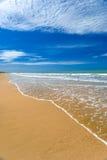 理想海滩的日 免版税库存照片