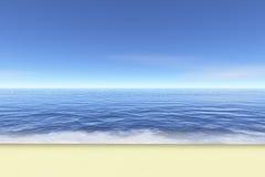 理想的海滩 向量例证
