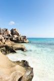 理想的热带海滩 免版税库存照片