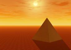 理想的金字塔 皇族释放例证