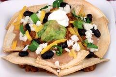 理想膳食墨西哥的烤干酪辣味玉米片 免版税图库摄影