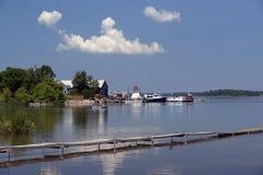 理查兹着陆小游艇船坞-圣约瑟夫海岛,安大略 免版税库存照片