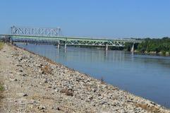 理查L Berkley河边区公园在堪萨斯 免版税图库摄影