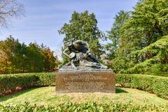 理查Rowland柯克兰纪念碑- Fredericksburg,弗吉尼亚 库存图片